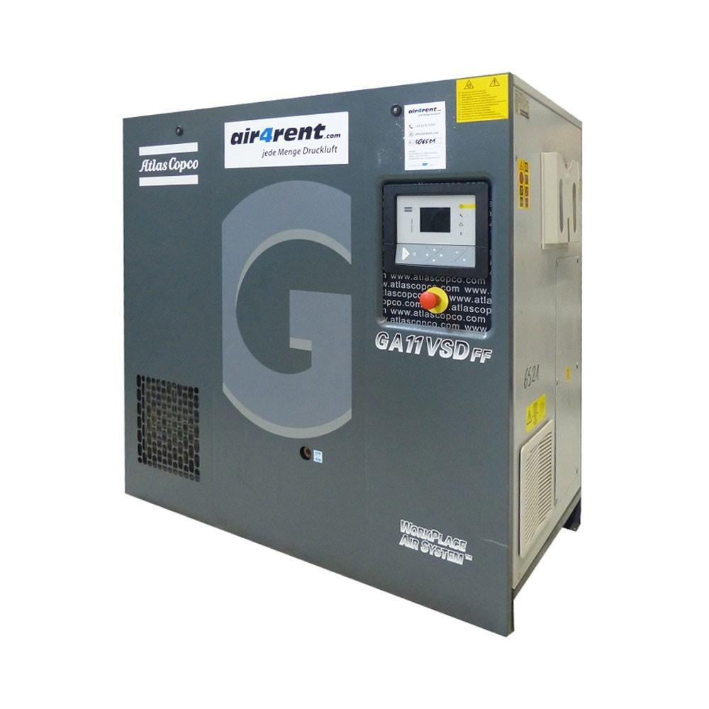 Rent Com: Compressor For Rent Atlas Copco GA11VSDFF 006521
